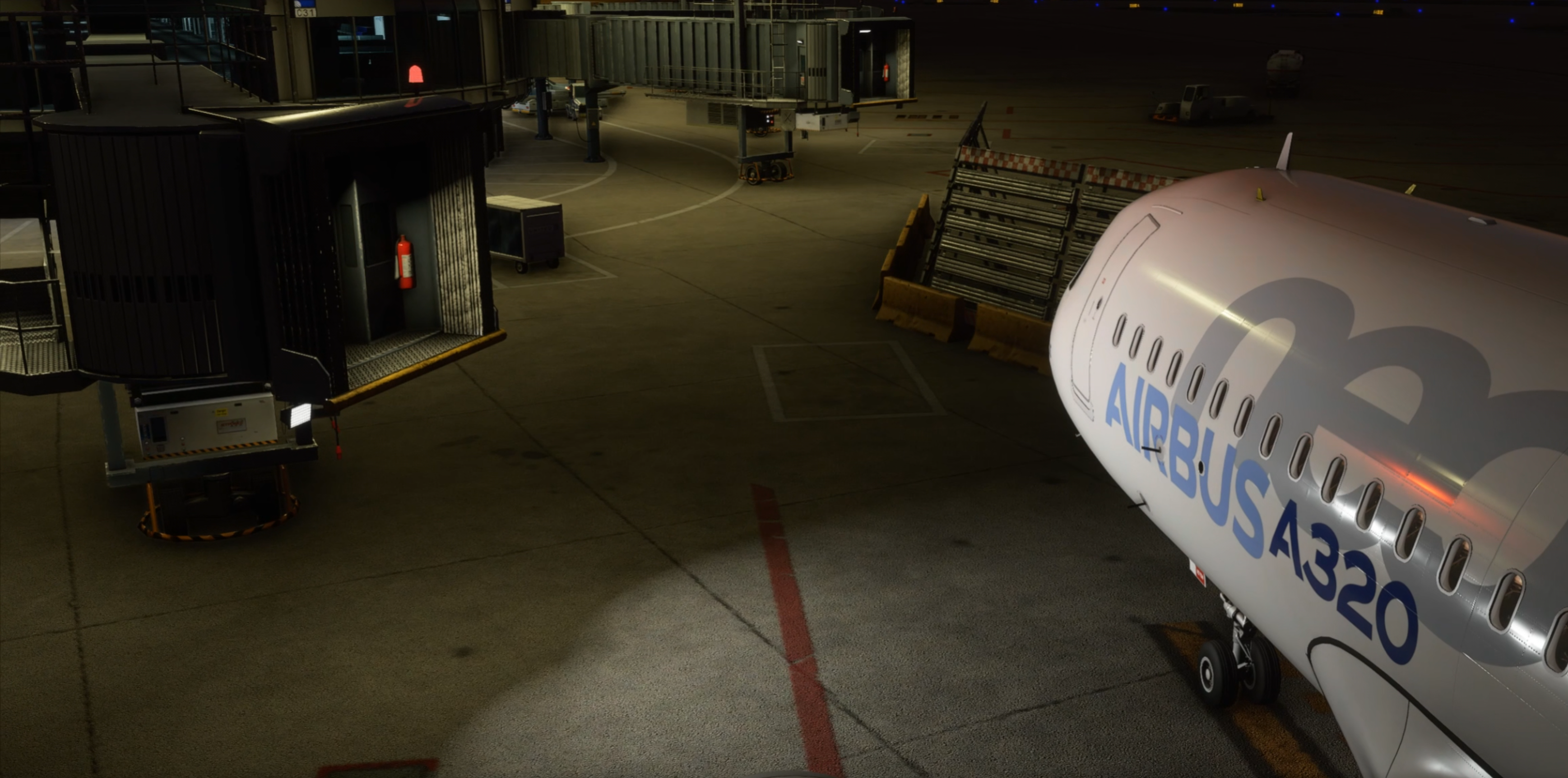 Kord scenery, Custom jetways with active lighting during animation.