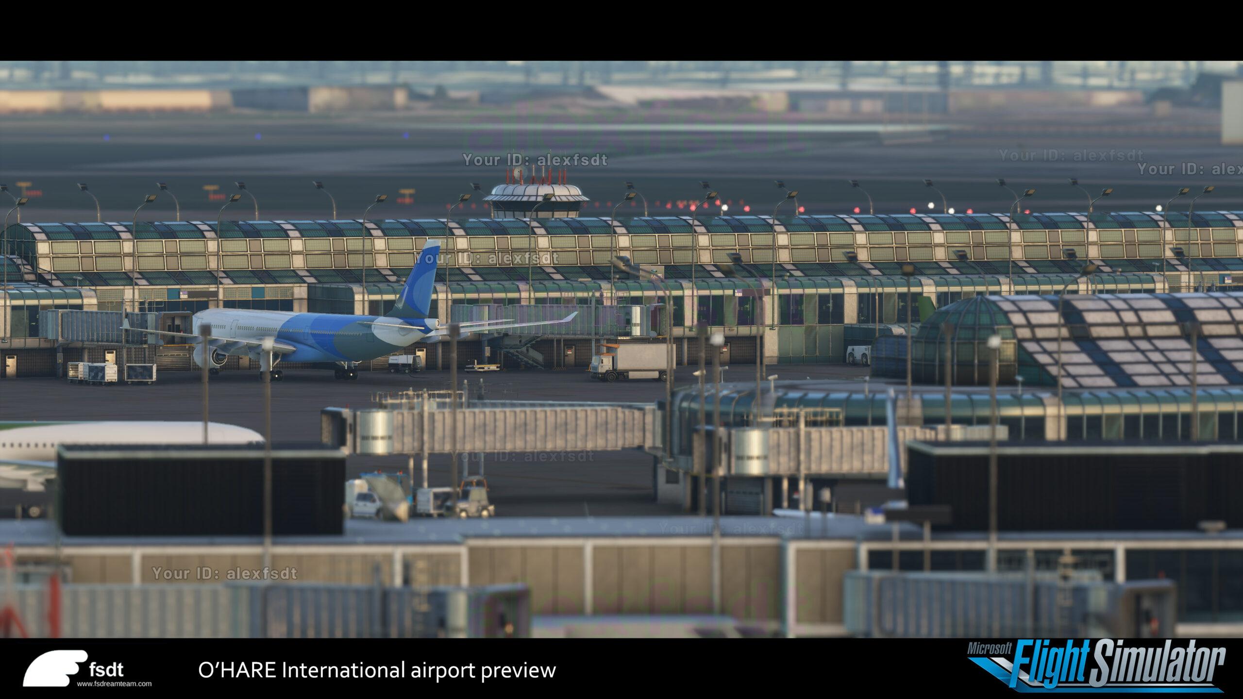 New O'Hare screenshots for the upcoming Microsoft Flight Simulator
