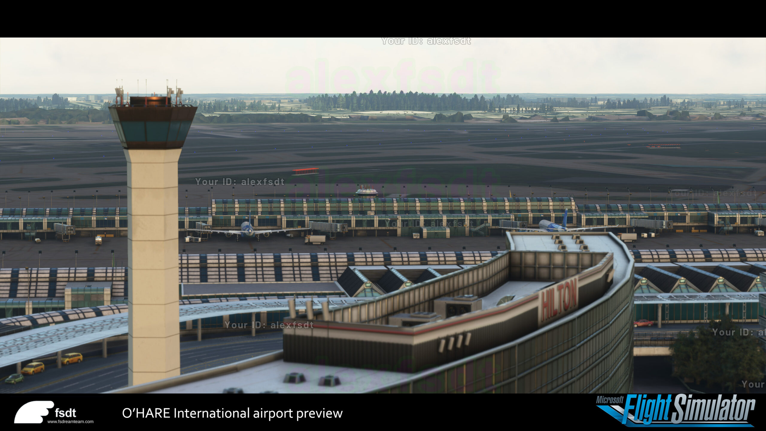 First video of Chicago O'Hare scenery, for Flight Simulator.