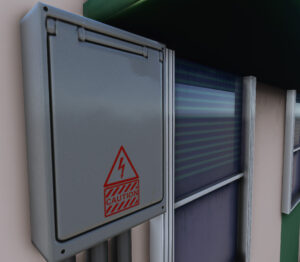 Stickers on electrical boxes