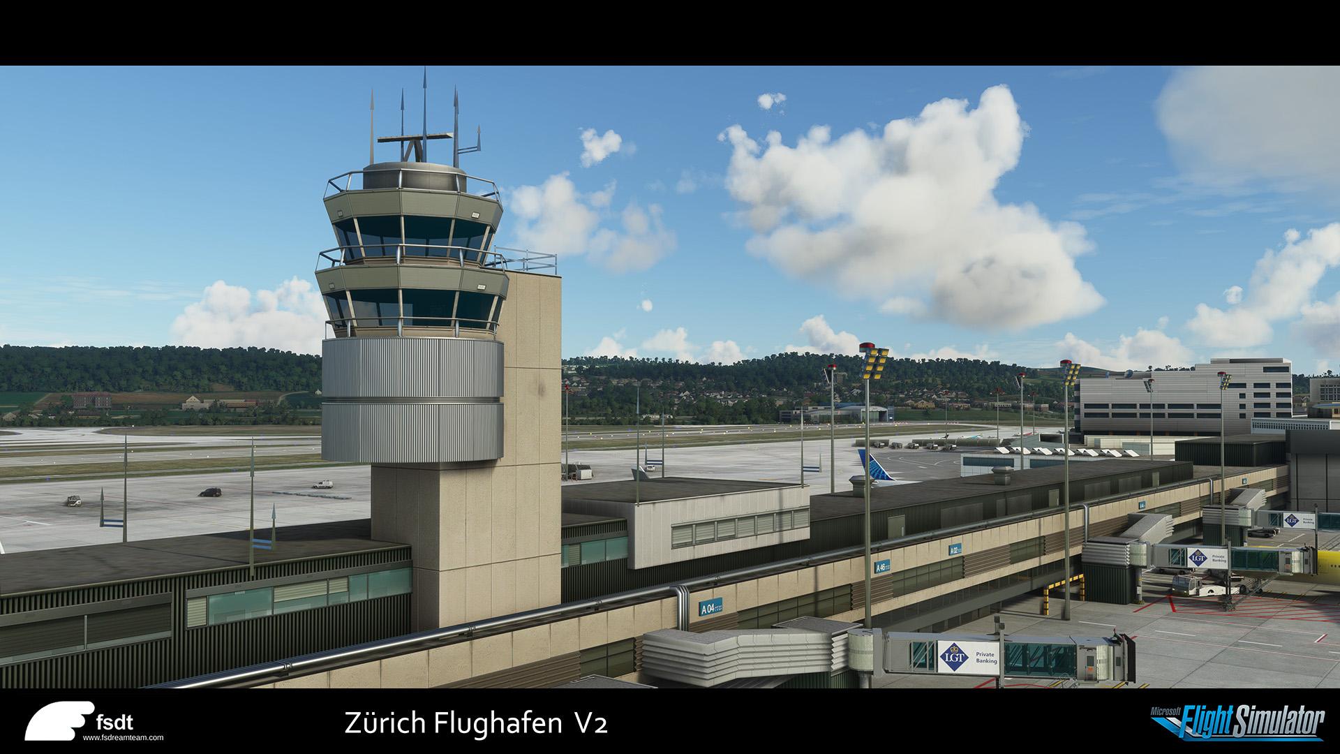 Zurich for flight simulator 2020